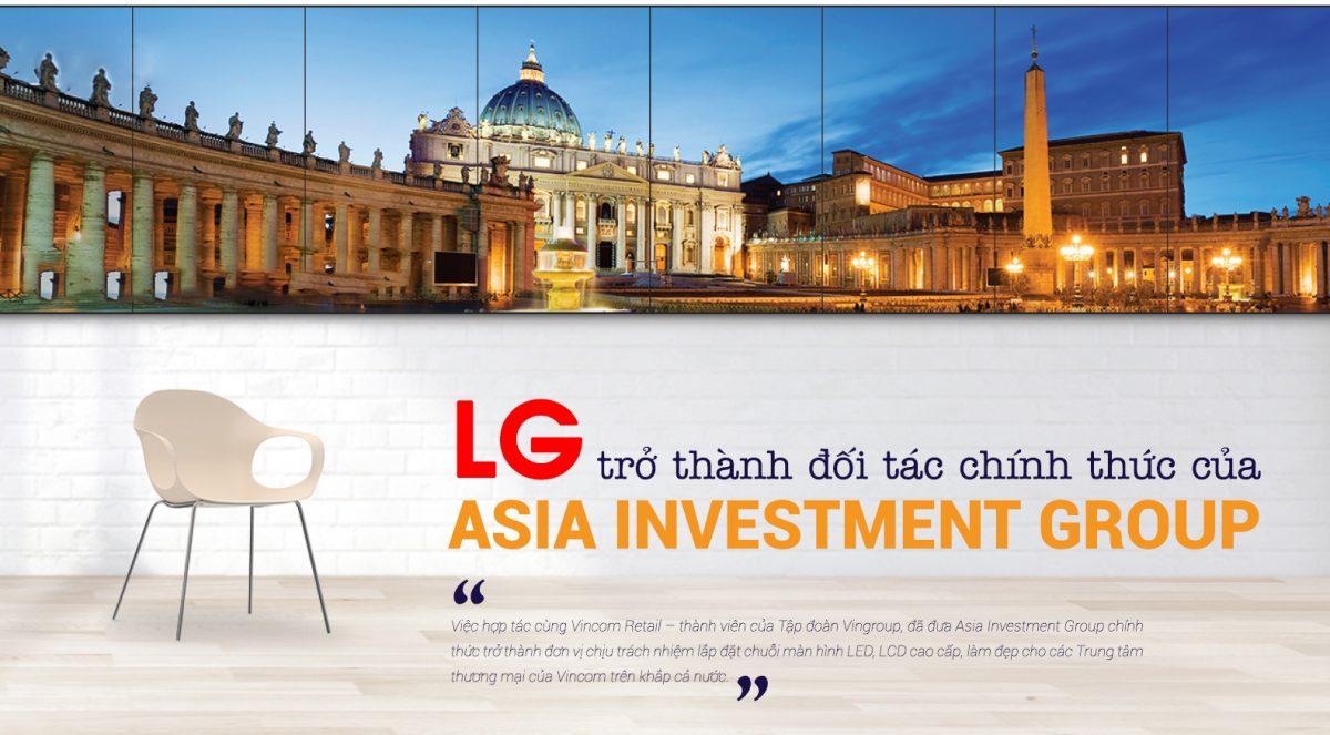 LG trở thành đối tác của asia investment