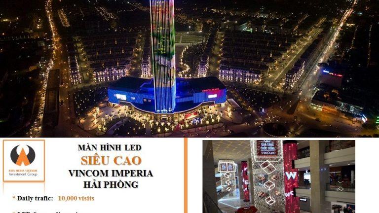 Màn hình led tại Vincom Plaza Imperia - Hải Phòng