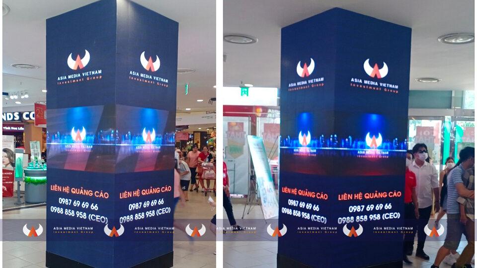 Lotte Mart Vũng Tàu – Cột Tiền Sảnh (4 mặt)