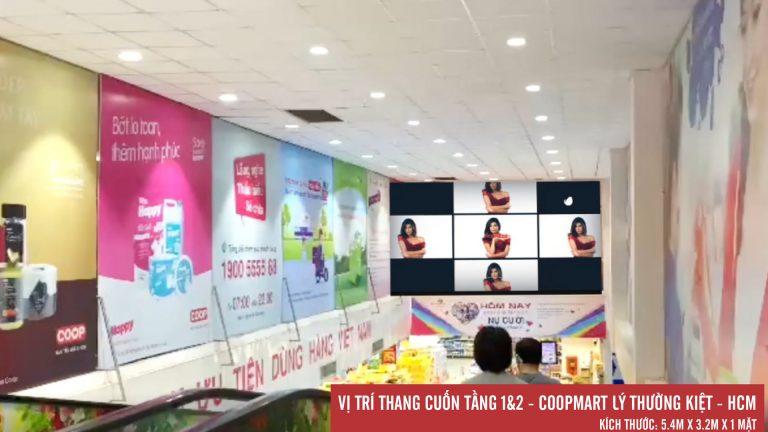 Led Indoor Tại Thang Cuốn 1&2 Coopmart Lý Thường Kiệt – Quận 10 – Tp. Hồ Chí Minh