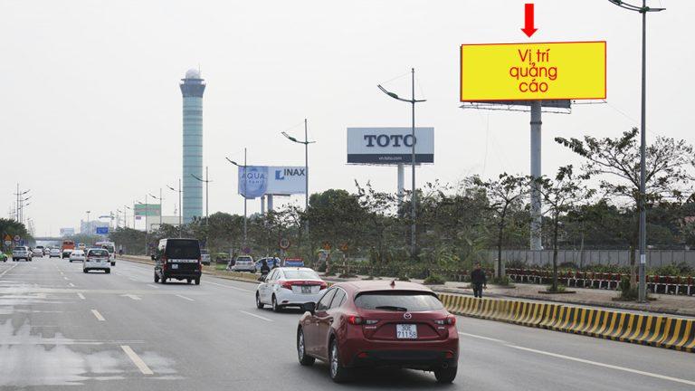 Billboard 2 Mặt Tại HK02 Đối Diện Nhà Ga T1 – Sân Bay Nội Bài – Huyện Sóc Sơn – Hà Nội
