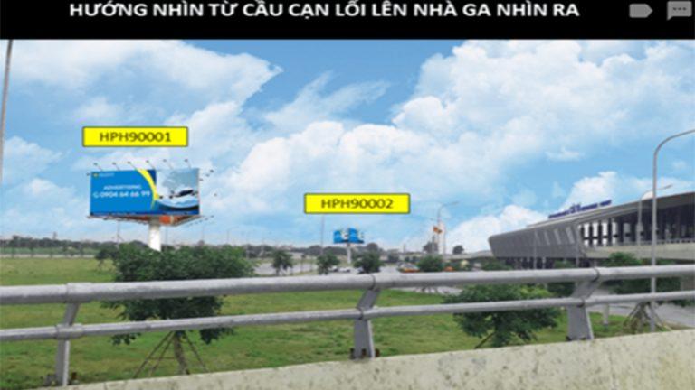 Billboard 3 Mặt Tại Sân Bay Cát Bi – Quận Hải An – Tp. Hải Phòng (2 Vị Trí)