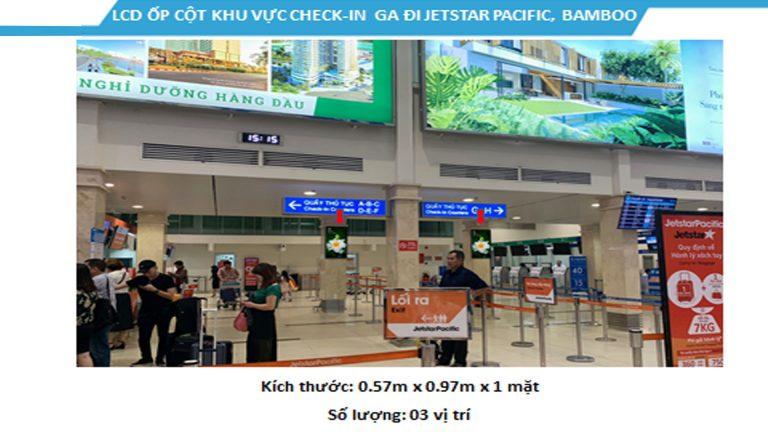 Led Indoor Tại 43″ Check-In JESTAR PACIFIC – Sân Bay Tân Sơn Nhất – Quận Tân Bình – Tp. Hồ Chí Minh (3 Vị Trí)