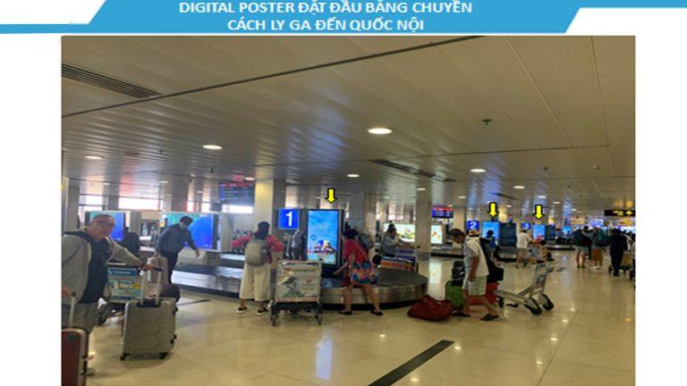 Led Indoor Tại 55″ Khu Vực Băng Chuyền Cách Ly Ga Đến Quốc Nội – Sân Bay Tân Sơn Nhất – Quận Tân Bình – Tp. Hồ Chí Minh (16 Vị Trí)