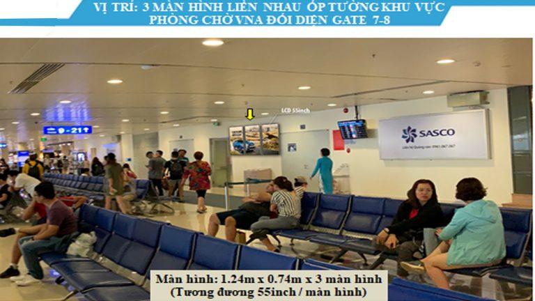 Led Indoor Tại 55″ Ốp Tường Khu Vực Phòng Chờ VNA Đối Diện Gate 7-8 – Sân Bay Tân Sơn Nhất – Quận Tân Bình – Tp. Hồ Chí Minh (3 Vị Trí)