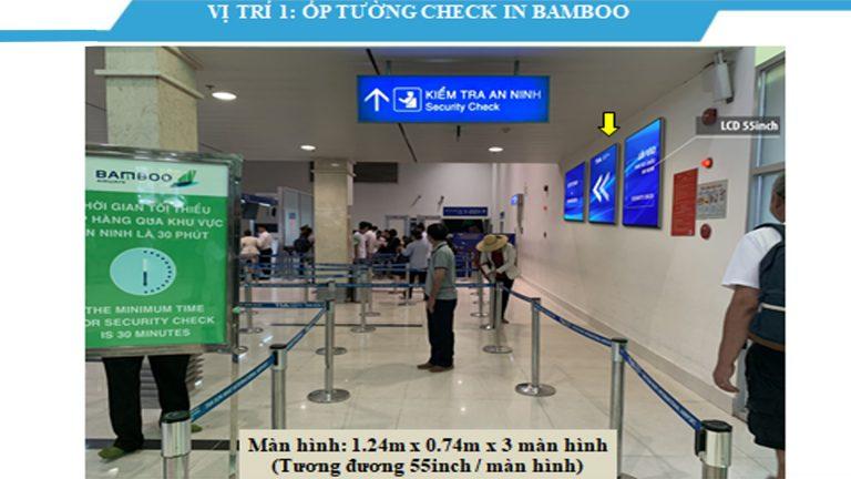 Led Indoor Tại Ốp Tường Check In Bambo 55 Inch – Sân Bay Tân Sơn Nhất – Quận Tân Bình – Tp. Hồ Chí Minh (3 Vị Trí)