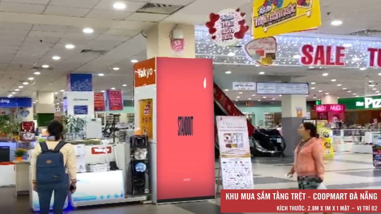 Led Indoor Tại Tầng Trệt Coopmart Đà Nẵng (Vị Trí 2)