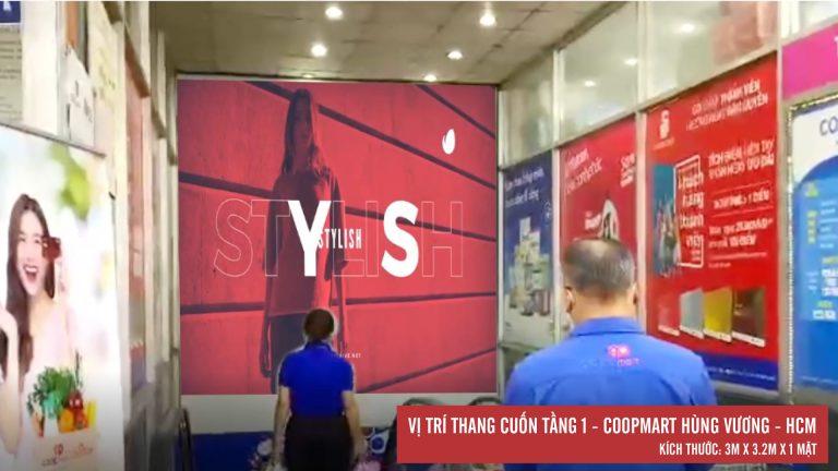 Led Indoor Tại Thang Cuốn Tầng 1 Coopmart Hùng Vương – Quận 5 – Tp. Hồ Chí Minh