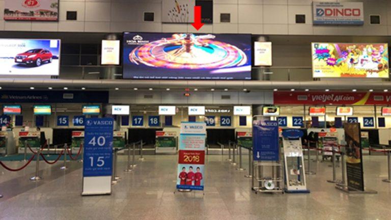 Led Indoor Tại Trung Tâm Sảnh Check-in Quốc Nội – Sân Bay Đà Nẵng – Quận Hải Châu – Tp. Đà Nẵng