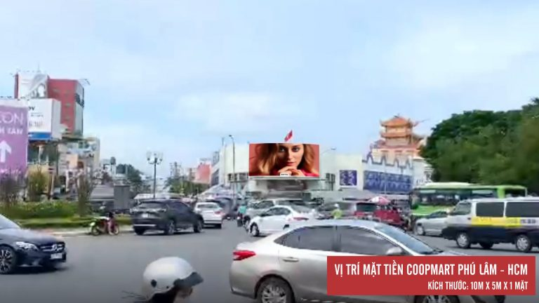 Led Outdoor Tại Mặt Tiền Coopmart Phú Lâm – Quận 6 – Tp. Hồ Chí Minh