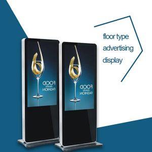 MWE821 Màn hình quảng cáo màn hình LCD kỹ thuật số đứng trên sàn MWE821 với kiểu dáng iPhone và iPad