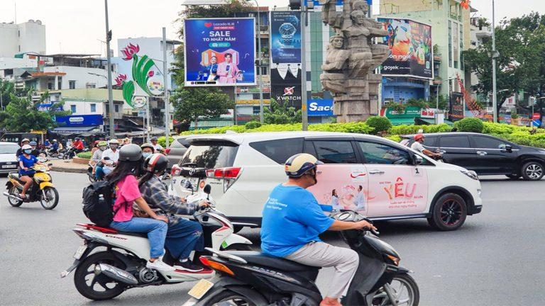 Pano Ốp Tường Tại Vòng Xoay Lý Thái Tổ (380 Lý Thái Tổ) – Quận 10 – Tp. Hồ Chí Minh