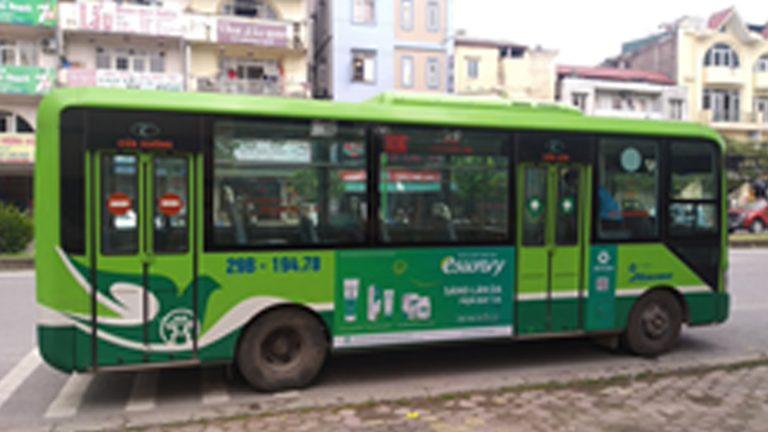 Quảng Cáo Tràn Kính Xe Bus Tại Kiên Giang