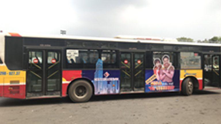 Quảng Cáo Tràn Kính Xe Bus Tại Lai Châu