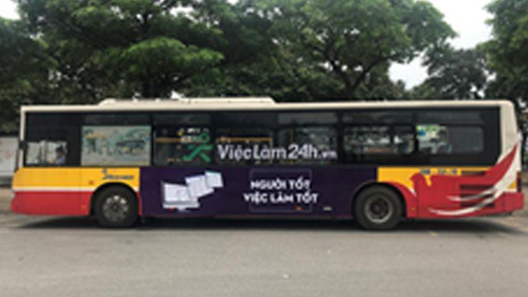 Quảng Cáo Tràn Kính Xe Bus Tại Nam Định