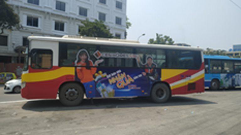 Quảng Cáo Tràn Kính Xe Bus Tại Phú Yên