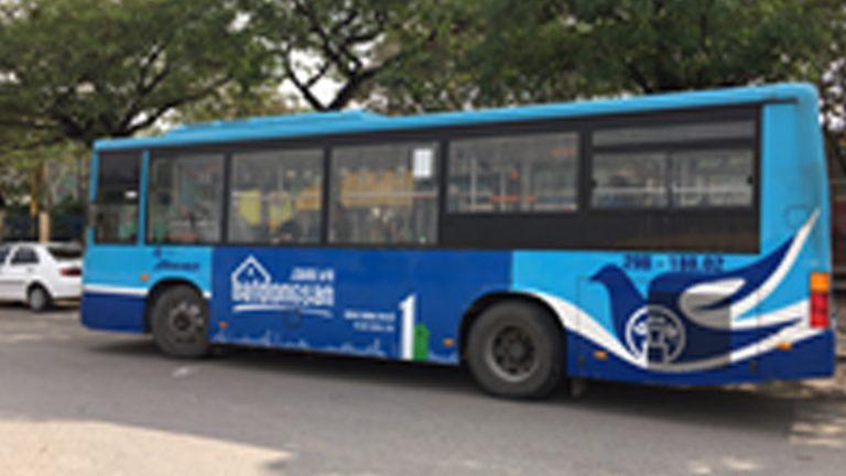 Quảng Cáo Tràn Kính Xe Bus Tại Quảng Bình