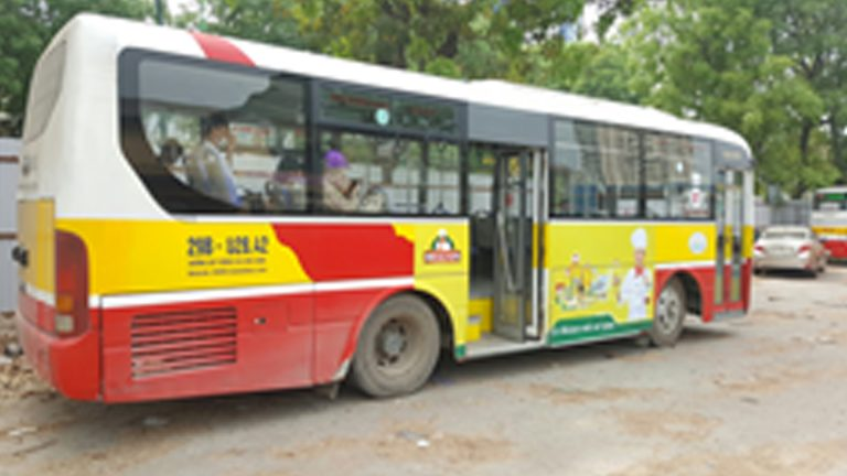 Quảng Cáo Tràn Kính Xe Bus Tại Quảng Nam