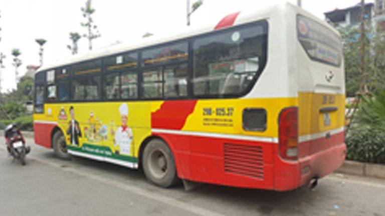 Quảng Cáo Tràn Kính Xe Bus Tại Quảng Ngãi