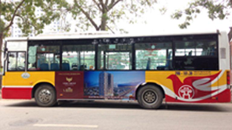 Quảng Cáo Tràn Kính Xe Bus Tại Quảng Trị