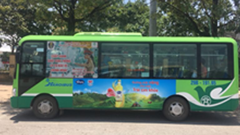 Quảng Cáo Tràn Kính Xe Bus Tại Sóc Trăng