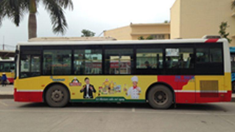 Quảng Cáo Tràn Kính Xe Bus Tại Thái Bình