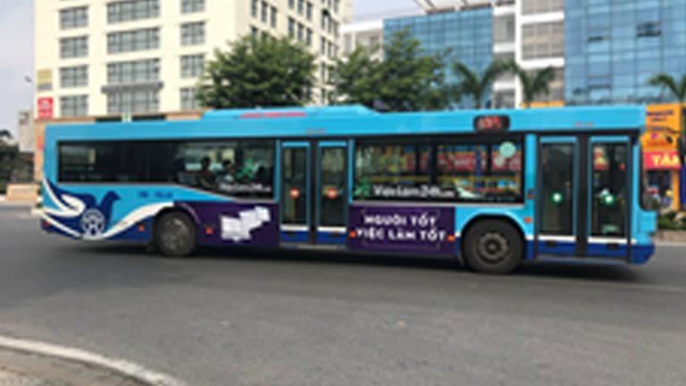 Quảng Cáo Tràn Kính Xe Bus Tại Thanh Hóa