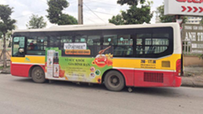 Quảng Cáo Tràn Kính Xe Bus Tại Tiền Giang