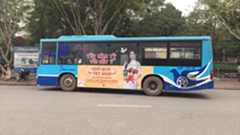 Quảng Cáo Tràn Kính Xe Bus Tại Trà Vinh