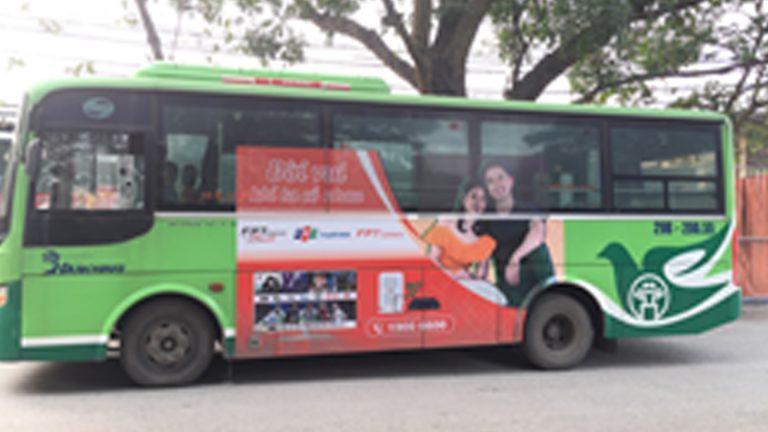 Quảng Cáo Tràn Kính Xe Bus Tại Tuyên Quang