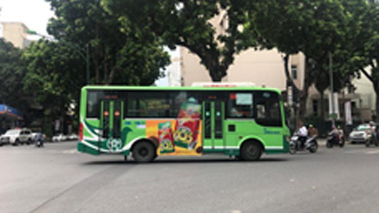 Quảng Cáo Tràn Kính Xe Bus Tại Vĩnh Long