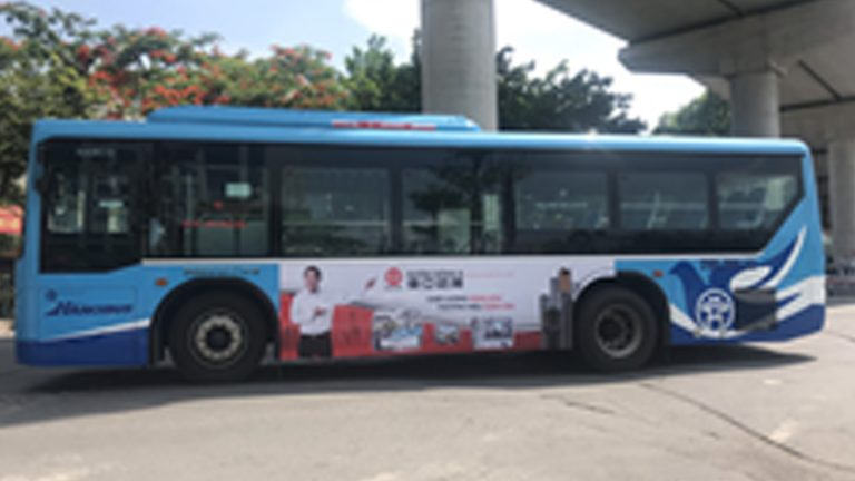 Quảng Cáo Tràn Kính Xe Bus Tại Vĩnh Phúc