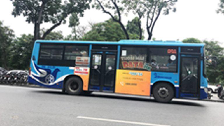 Quảng Cáo Tràn Kính Xe Bus Tại Yên Bái
